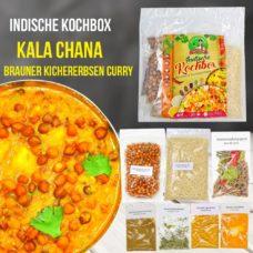 Brauner Kichererbsen Curry mit Reis - Kochbox - Indische Rezepte