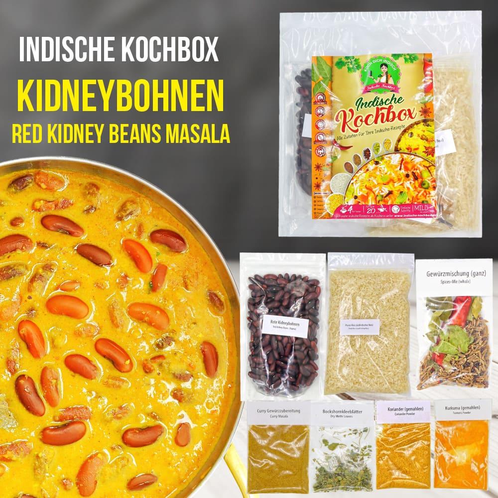 Kidneybohnen Curry - Rajma Chawal - mit Reis - Kochbox - Indische Rezepte