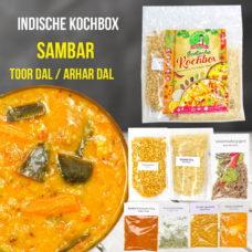 Sambar - Gemüsesuppe Linsengericht mit Reis - Kochbox - Indische Rezepte