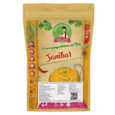 Sambar Linsengericht Gemüsesuppe - Kochbox mit Dal Hülsenfrüchte, Basmati Reis und Gewürze
