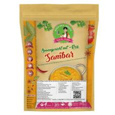 Sambar Linsengericht Gemüsesuppe - Kochbox mit Dal Hülsenfrüchte, Basmati Reis und Gewürze - Alle Zutaten inklusive - Indische Rezepte